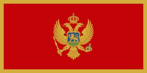 Černá Hora vlajka